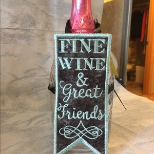 Other - Embroidered Bottle Apron -Fine Wine